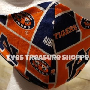 Fitted Auburn Face Mask