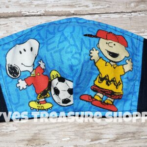 Charlie and Snoopy Fitted Mask