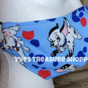 Fitted Dalmatian Face Mask