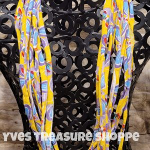 Yellow and Blue T-shirt Necklace Scarf